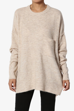 Taryn Loose Melange Knit Sweater