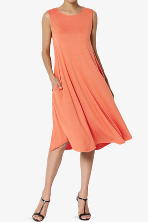 Ivetta Sleeveless Pocket Swing Dress PLUS