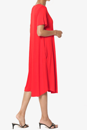 Ivetta Short Sleeve Pocket Swing Dress PLUS - TheMogan
