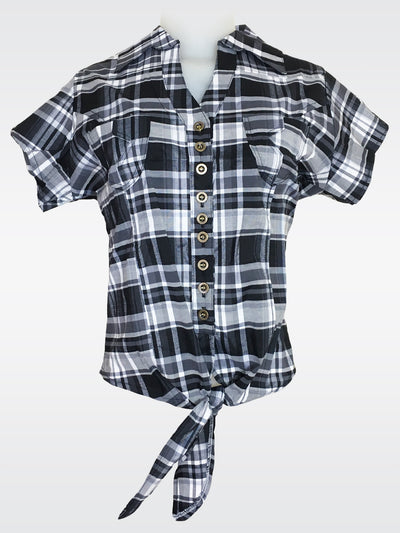Bluette's Women Collection - Plaid Shirt