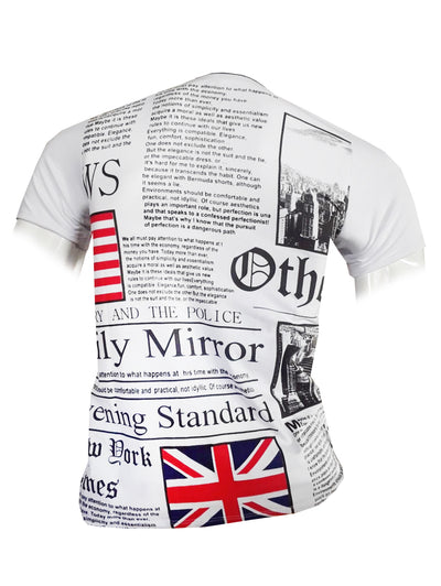 Bluette's Men Collection - Newspaper Shirt