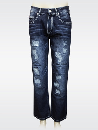 Stone's Straight Jeans - Ripped