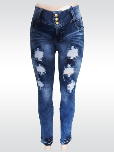Bluette's Push-Up Skinny Jeans - Ripped