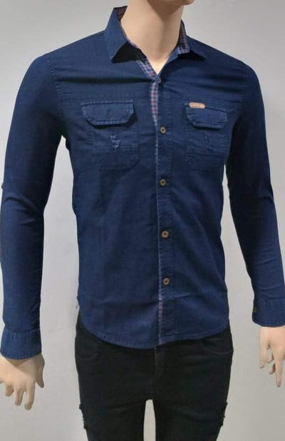 Bluette's Men Collection - Denim Button-Down Shirt