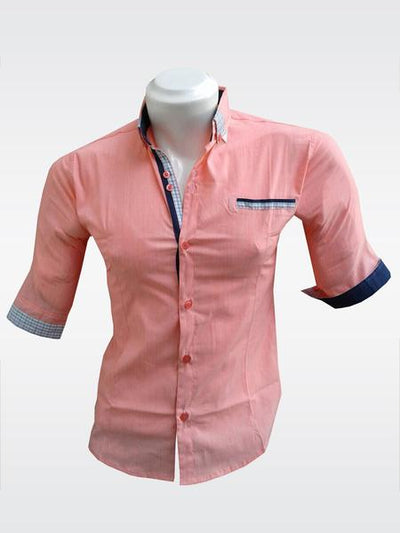 Bluette's Men Collection - 3/4 Sleeved Button-Down Shirt