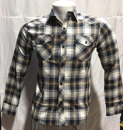 Bluette's Men Collection - Plaid Button-Down Shirt