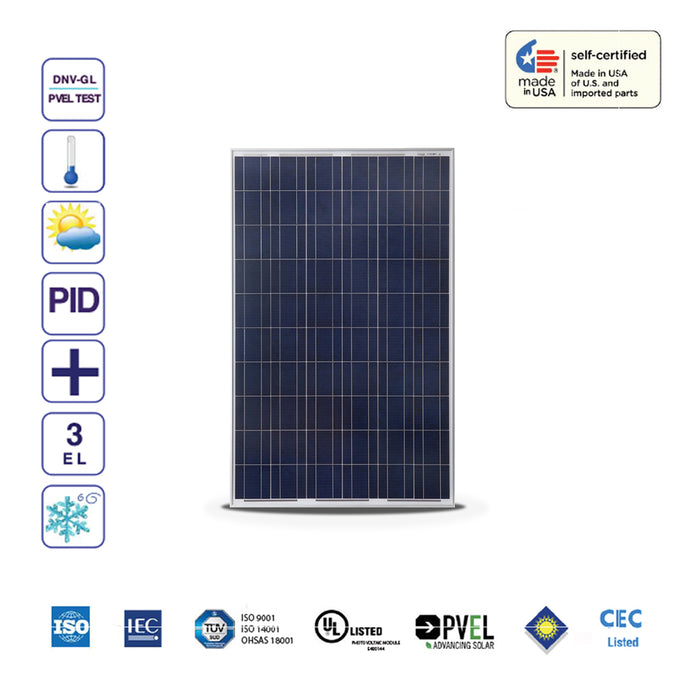 260W SunSpark Solar Panel Poly Module (4-Pack)