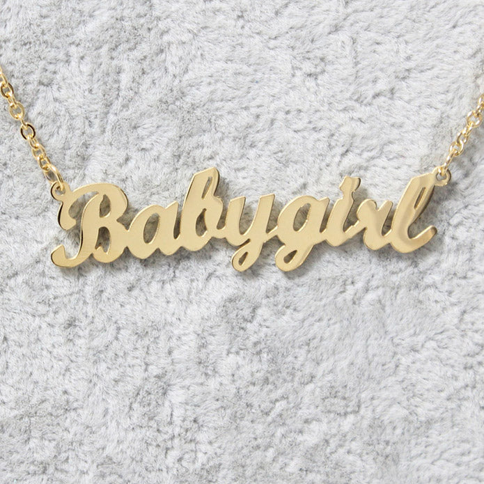 personalized pin tiny jewelry baby necklace name girl pendant