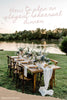 5 Tips for Planning an Elegant Rehearsal Dinner {on a budget}