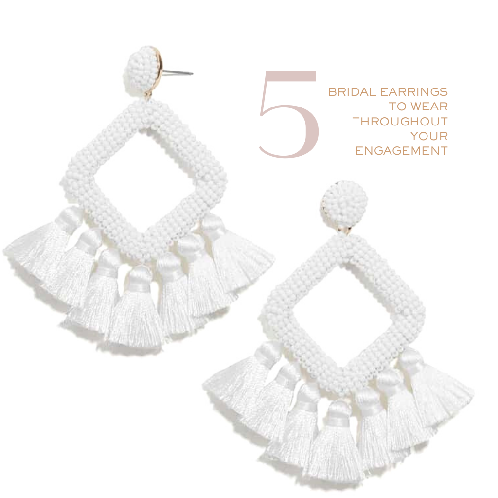 5 Bridal Earrings to Wear Throughout Your Engagement