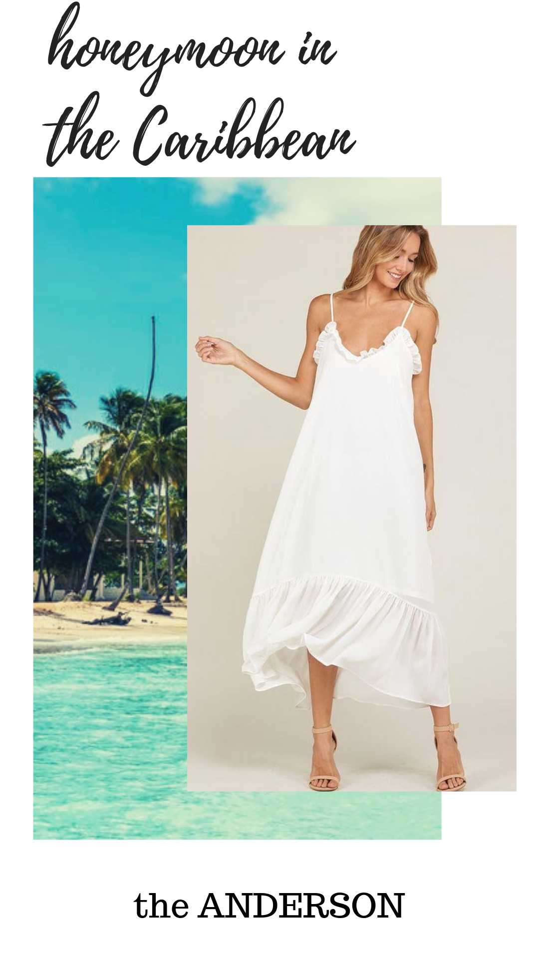 What to Pack for Your Honeymoon in the Caribbean - White Honeymoon Dress