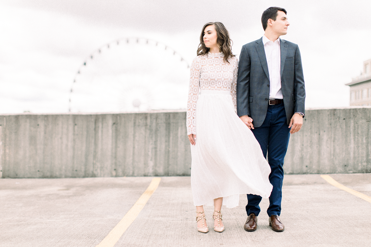 Trendy engagement photo style_white maxi dress_Eternal Ivory