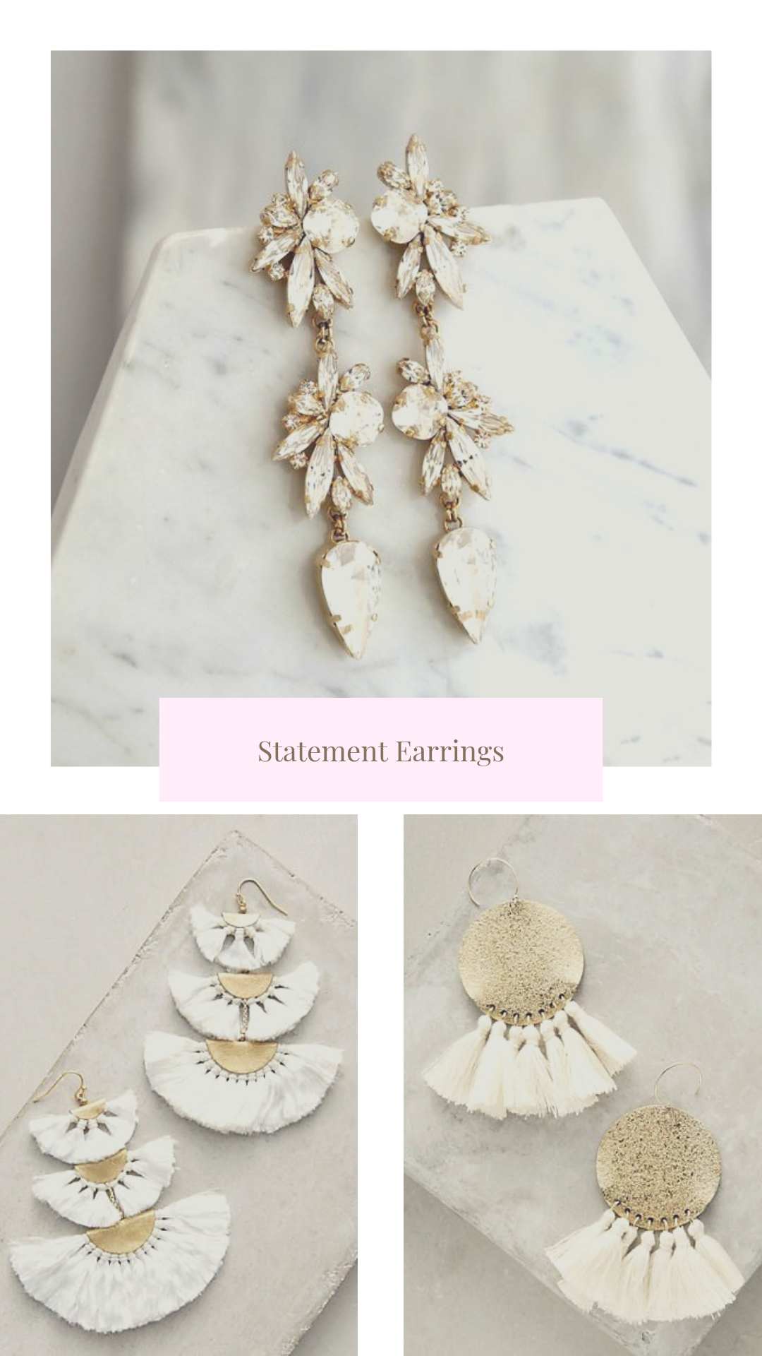 Statement earrings for the bride to be_Eternal Ivory