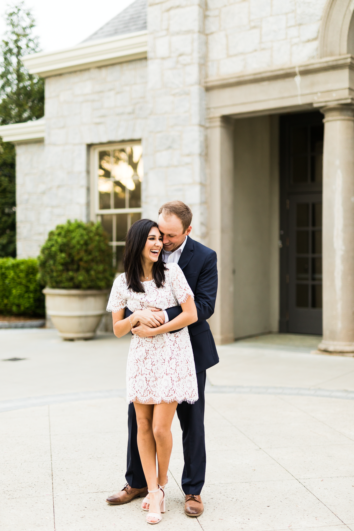 engaged couples shoot_little white lace dress_Eternal Ivory