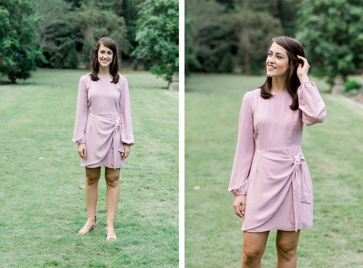 What to Wear for Valentine's Day | Dusty rose long sleeve dress | Eternal Ivory