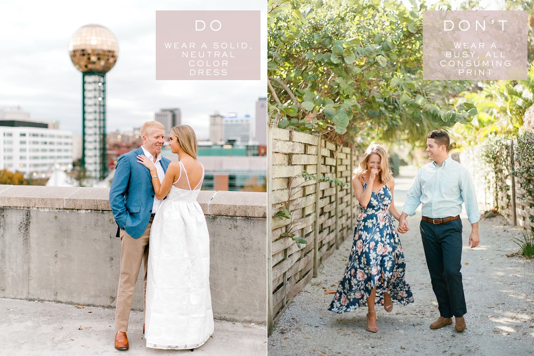 Engagement Photo Outfit Tips | What to Wear for Engagement Photos | Eternal Ivory