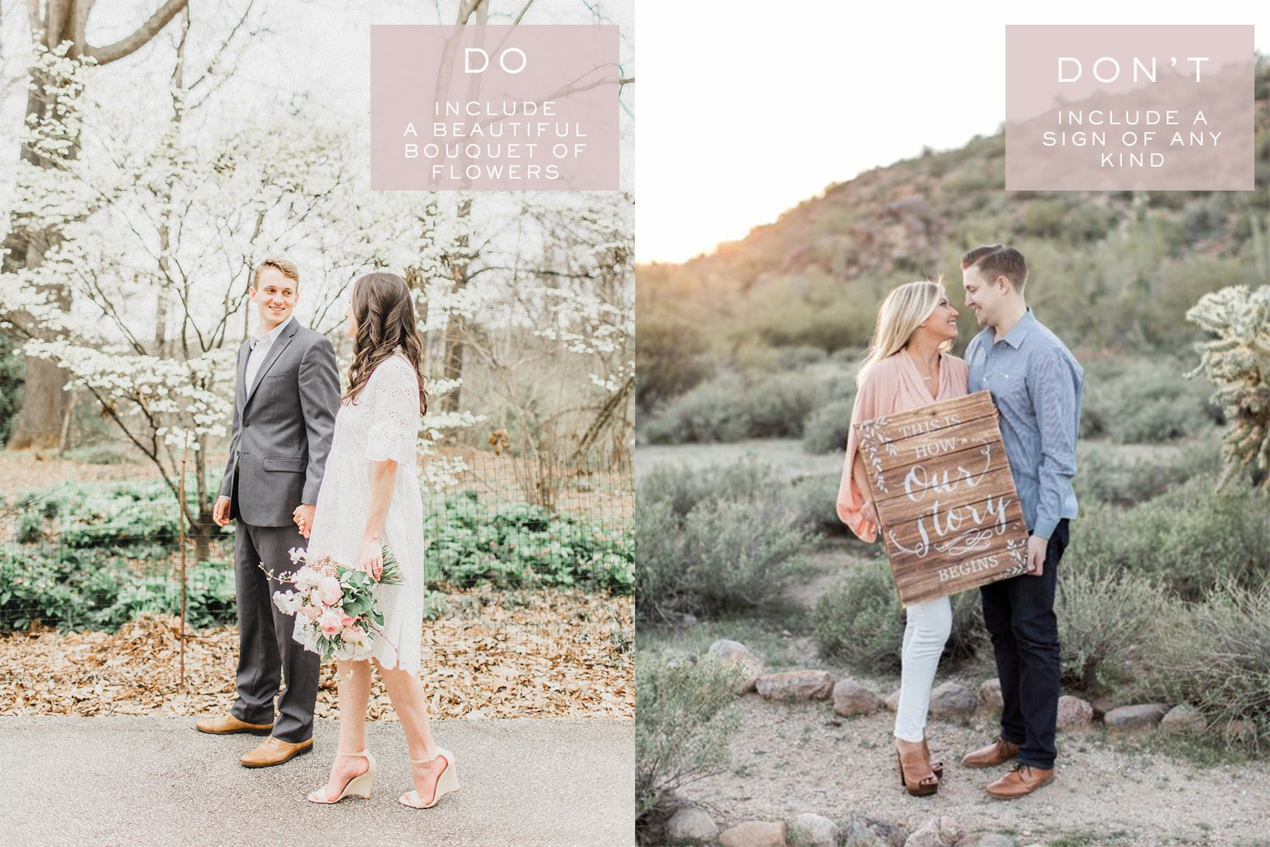 Engagement Photo Props | Engagement Photo Tips | Eternal Ivory