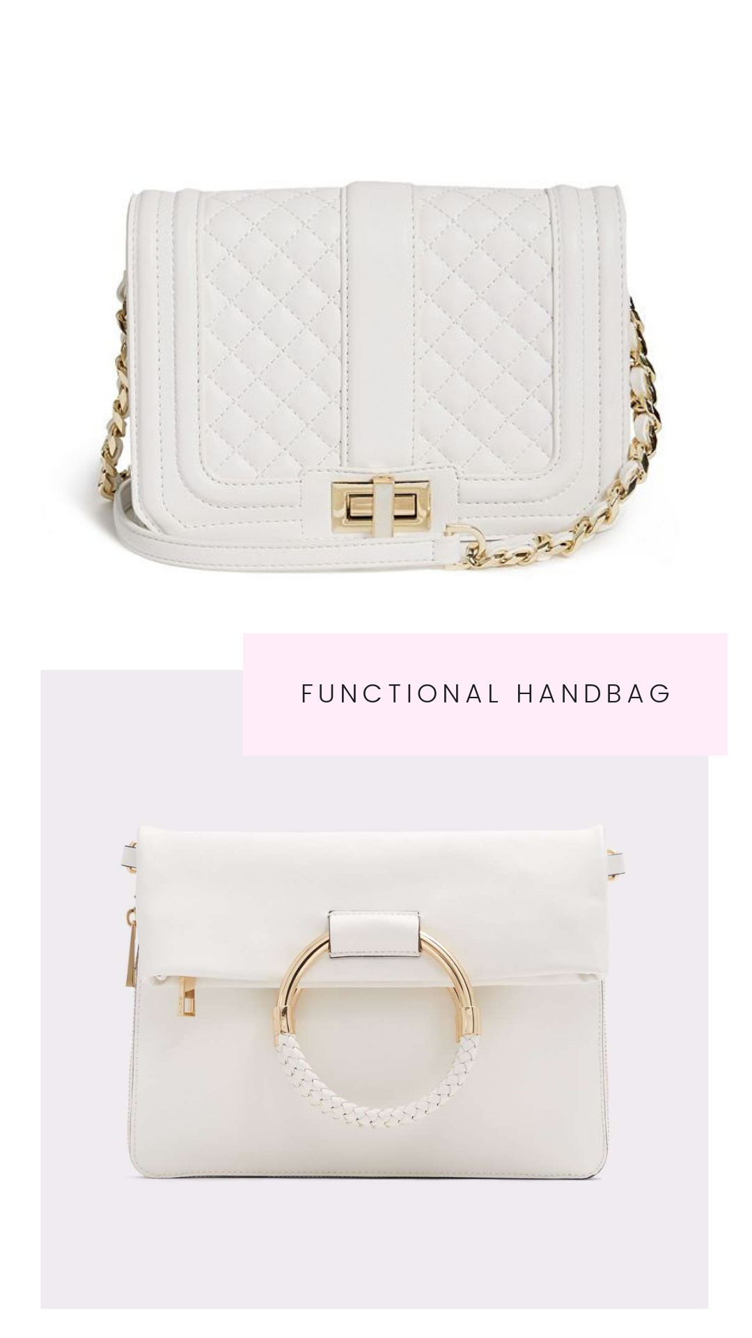 White purse for the bride to be_Eternal Ivory