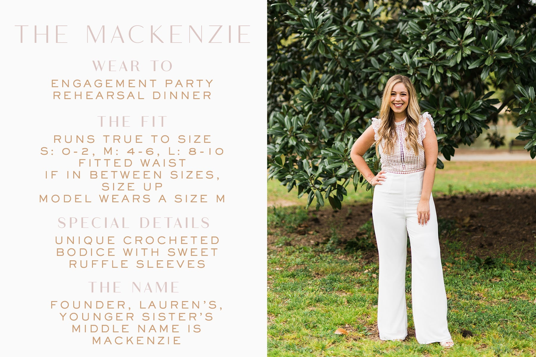 Unique bridal jumpsuit for engagement photos_Mackenzie jumpsuit_Eternal Ivory