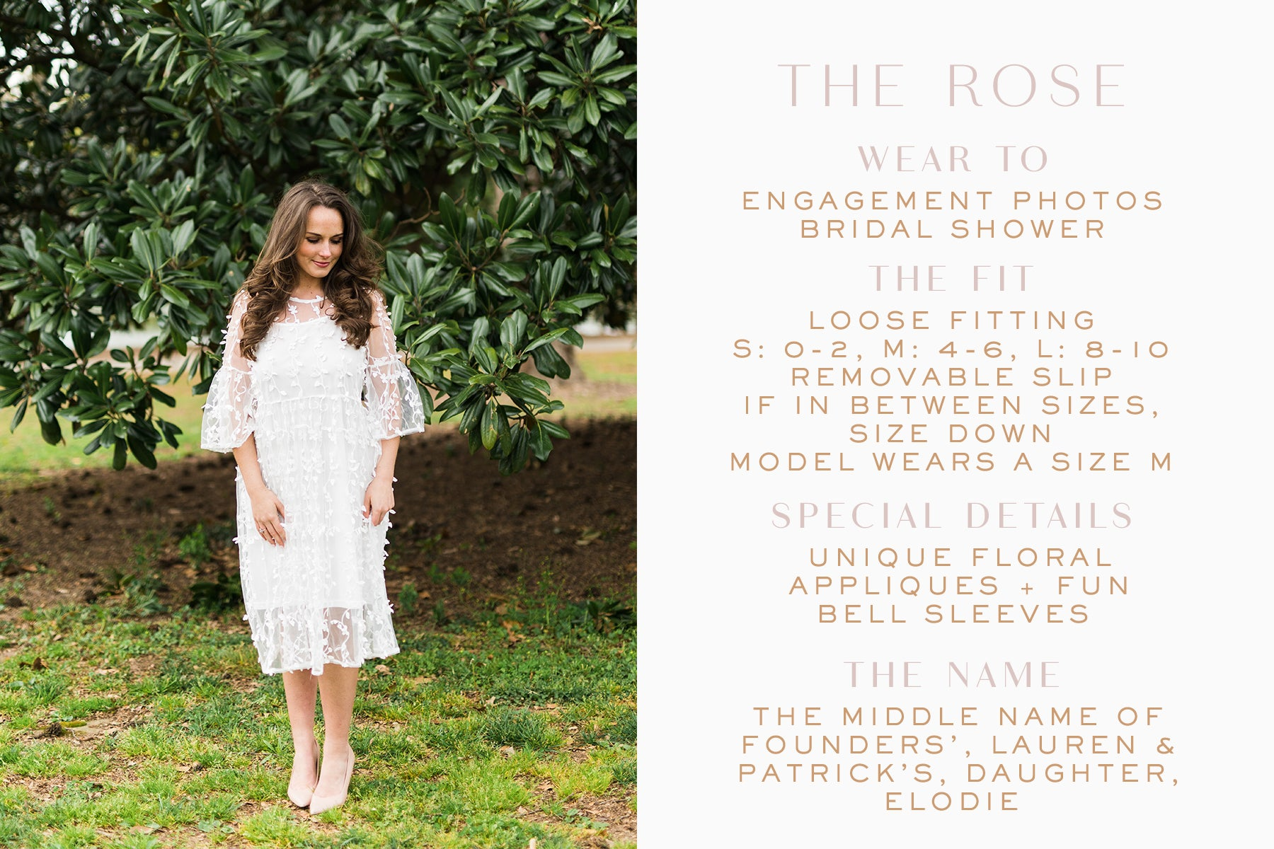 Unique little white dress for brides_Rose dress_Eternal Ivory