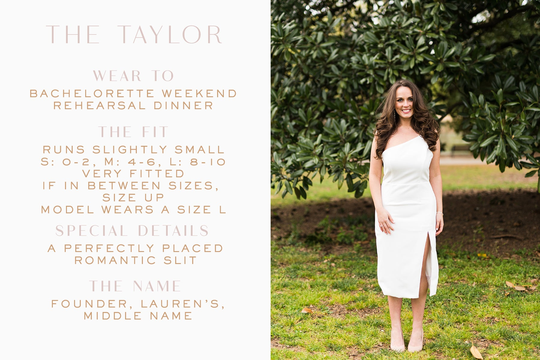 Classic white dress for rehearsal dinner_Taylor dress_Eternal Ivory
