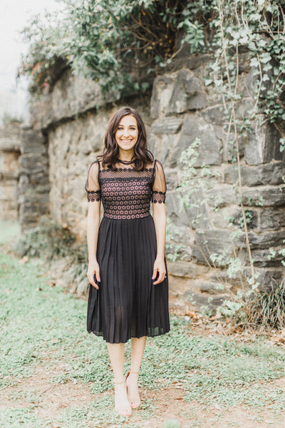 Audrey | Short Sleeve Little Black Dress