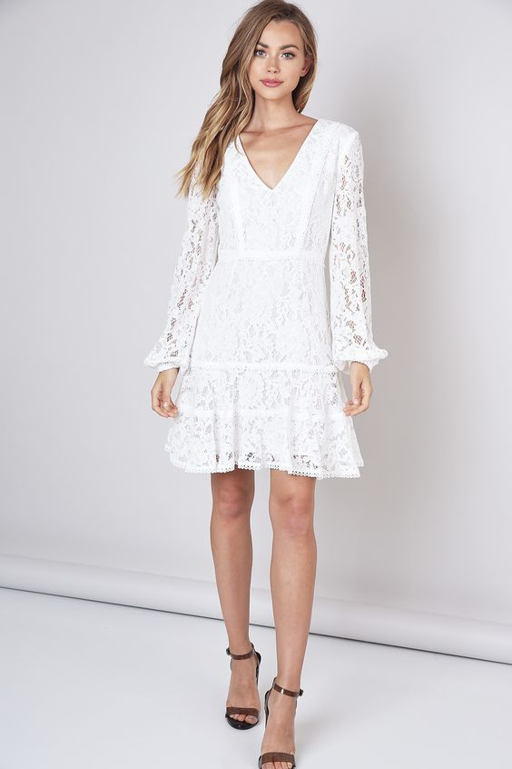 Madeline | Long sleeve lace dress