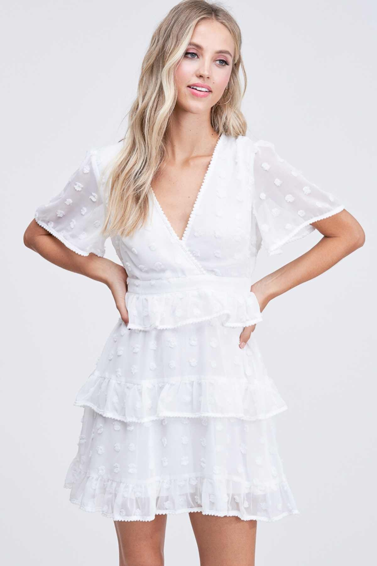 Courtney | Ruffle Layer Mini Dress