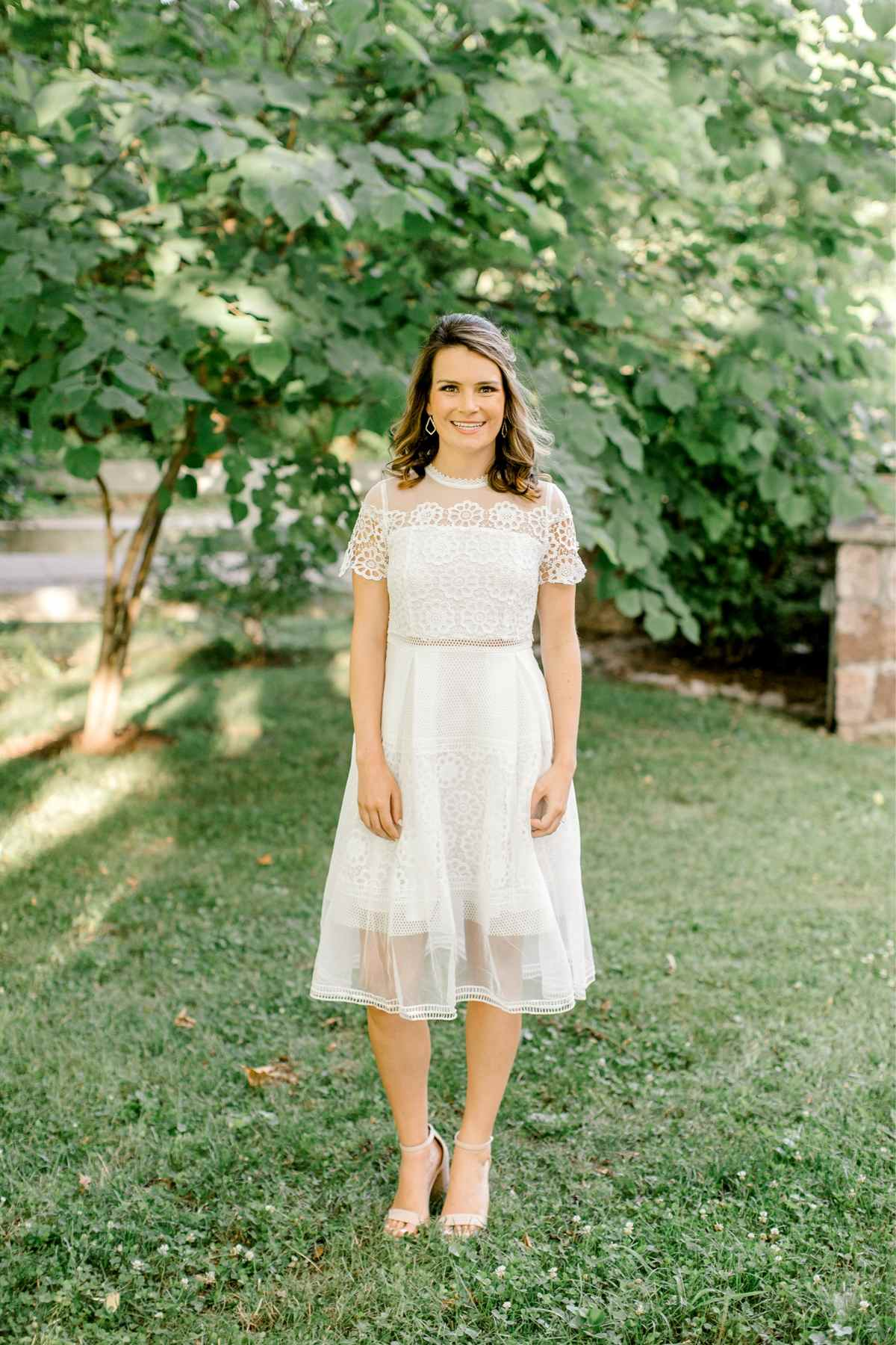 Loddy | A Chic Bridal Midi Dress