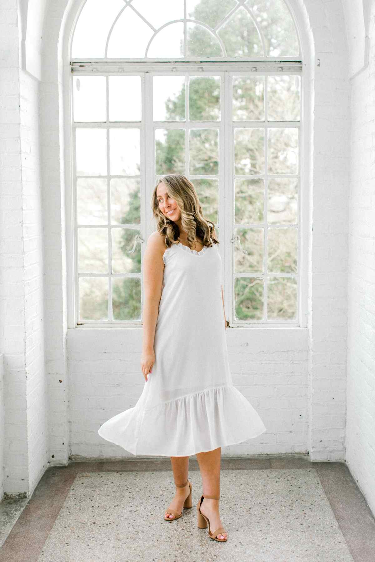 Anderson | Flowy Ruffle Trim Maxi Dress