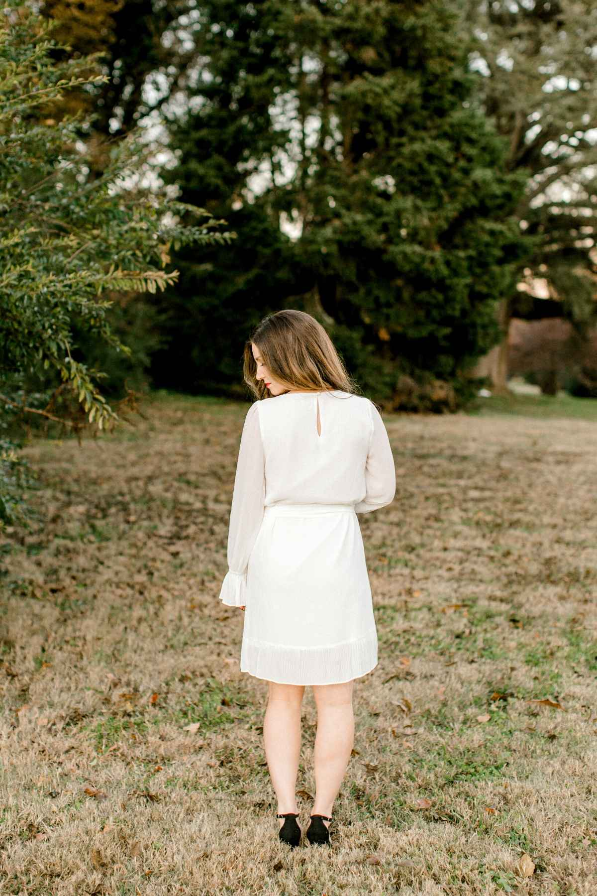 White-long-sleeve-bridal-dress_winter-engagement-photos_The-Melissa-dress_Eternal-Ivory