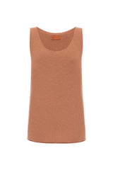 Orange Knitted Singlet