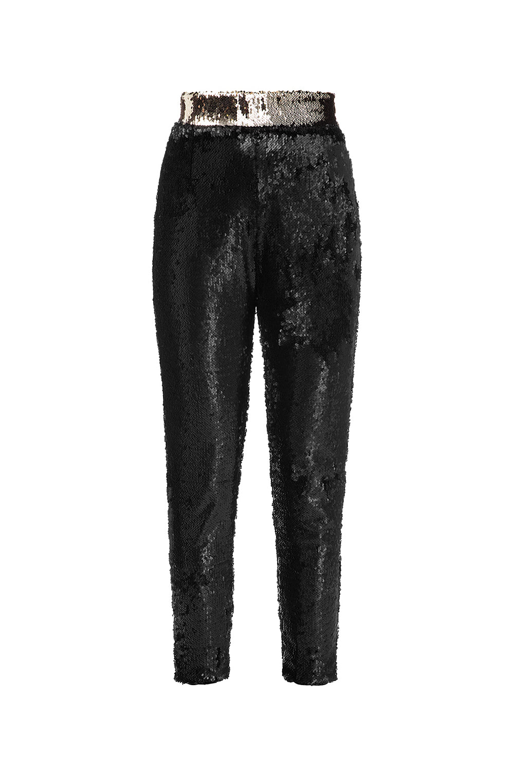 Black trousers with sequins