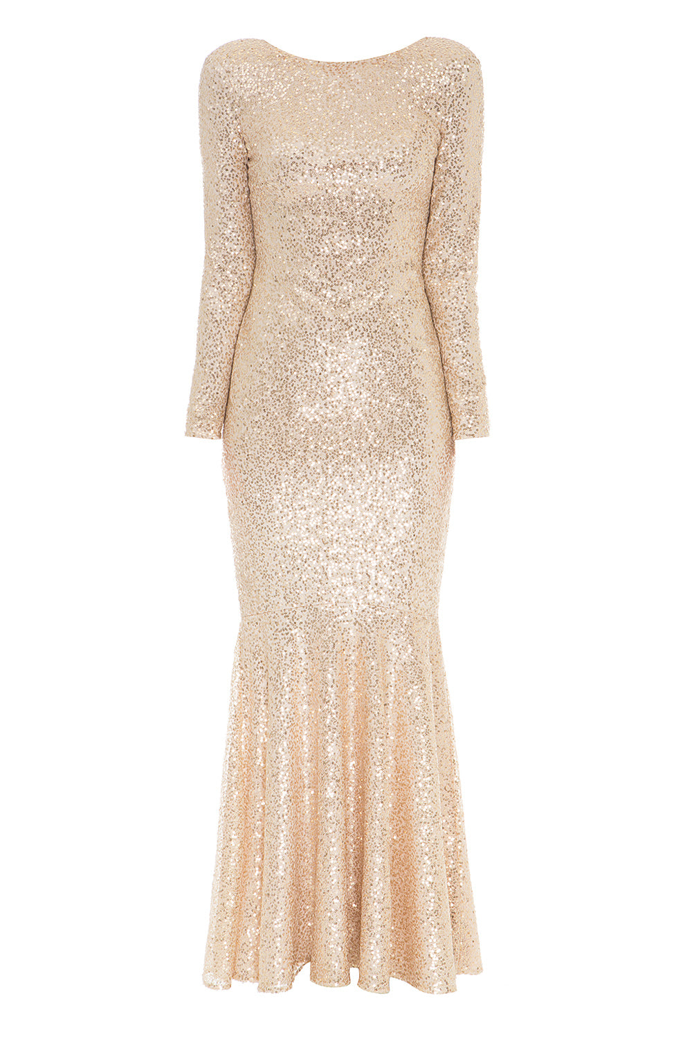 Golden Sequin Maxi Dress_composition