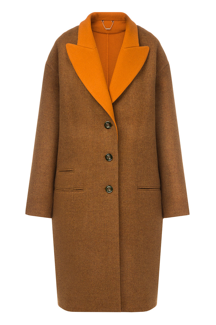 Brown wool coat