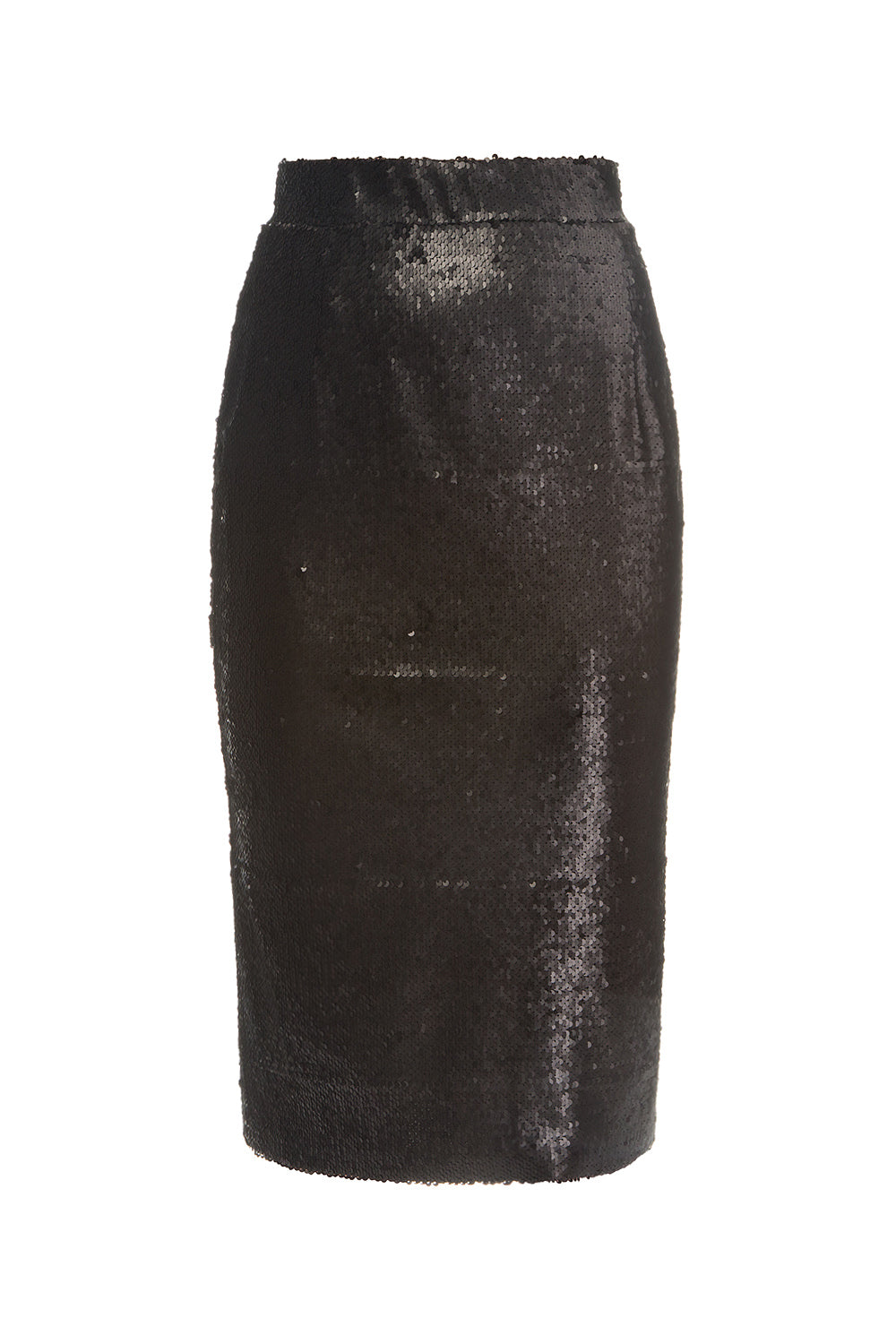 Black sequin pencil skirt