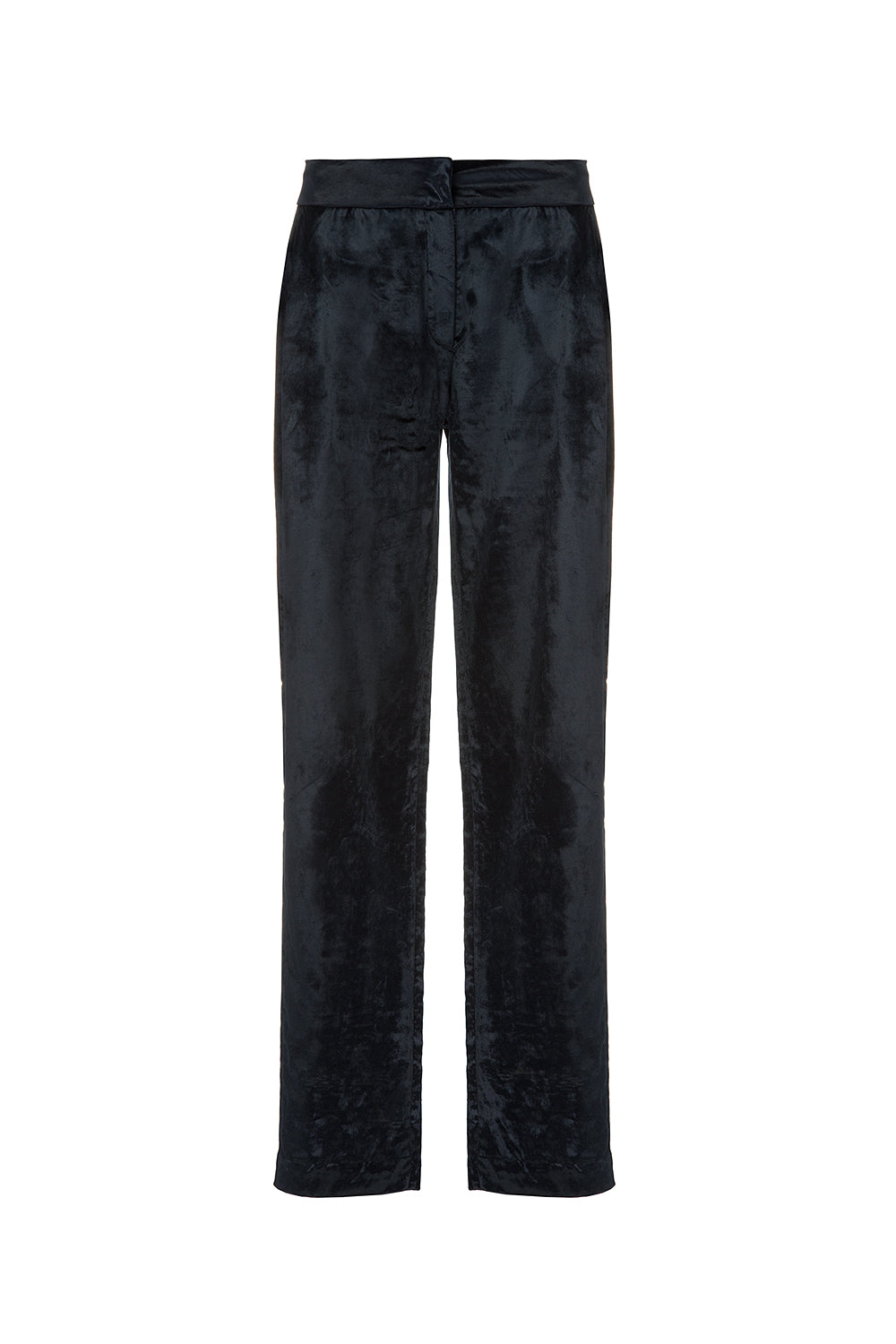 Dark blue velvet pants