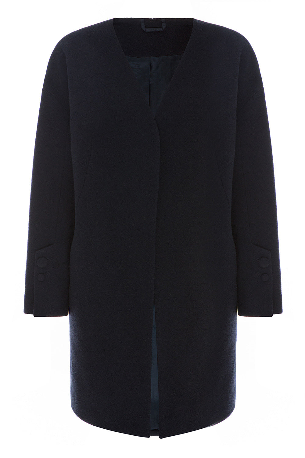 Dark Navy Wool Coat