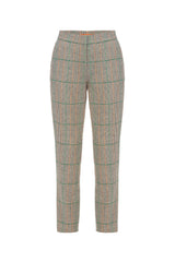Grey checked wool trousers
