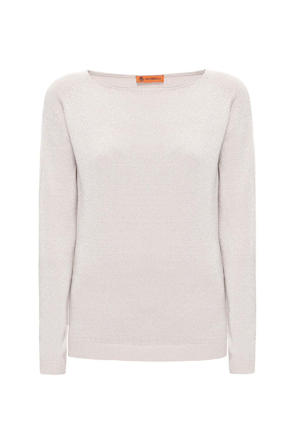 Beige Lurex Sweater