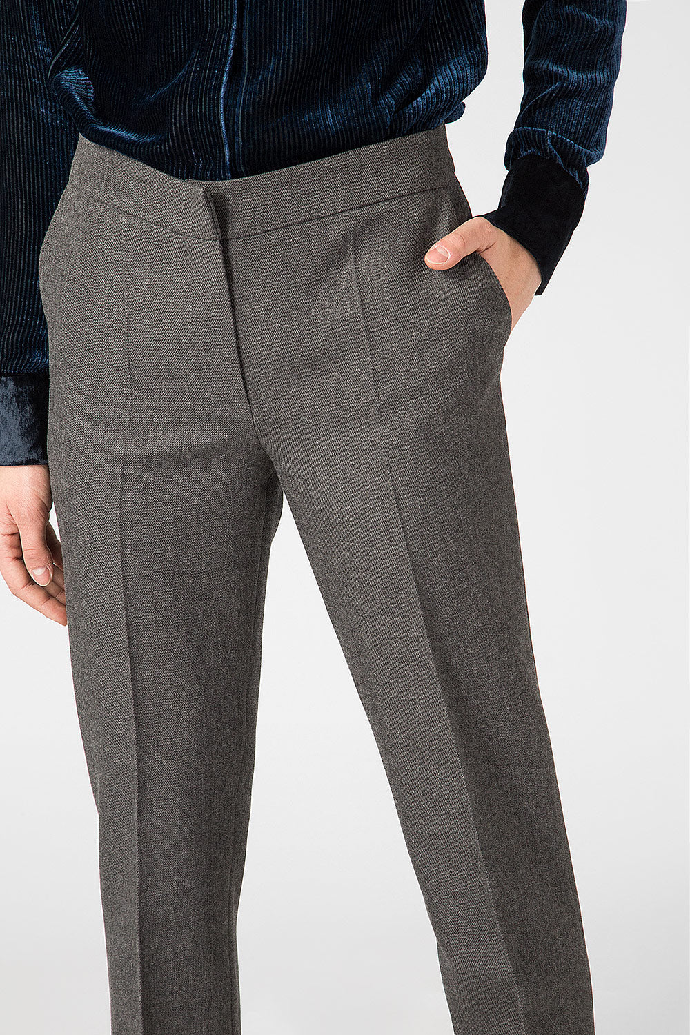 Gray wool trousers