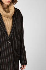 Brown wool striped jacket