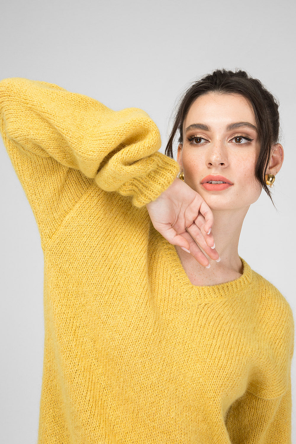 Yellow Woolen Pullover