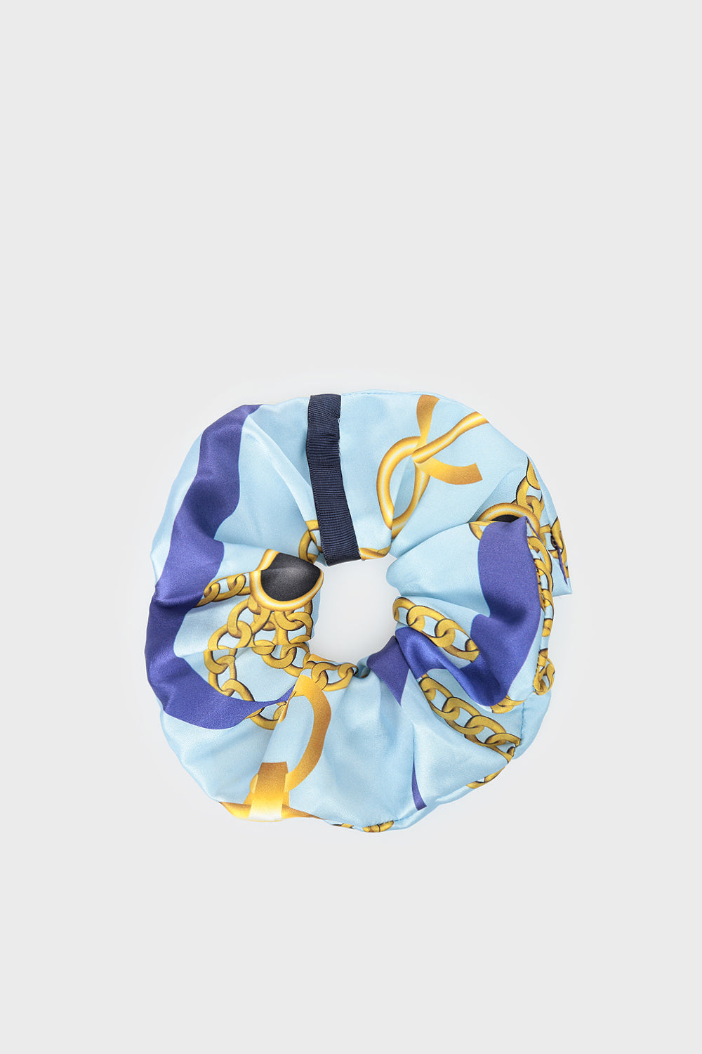 Blue Silky Hair Scrunchie