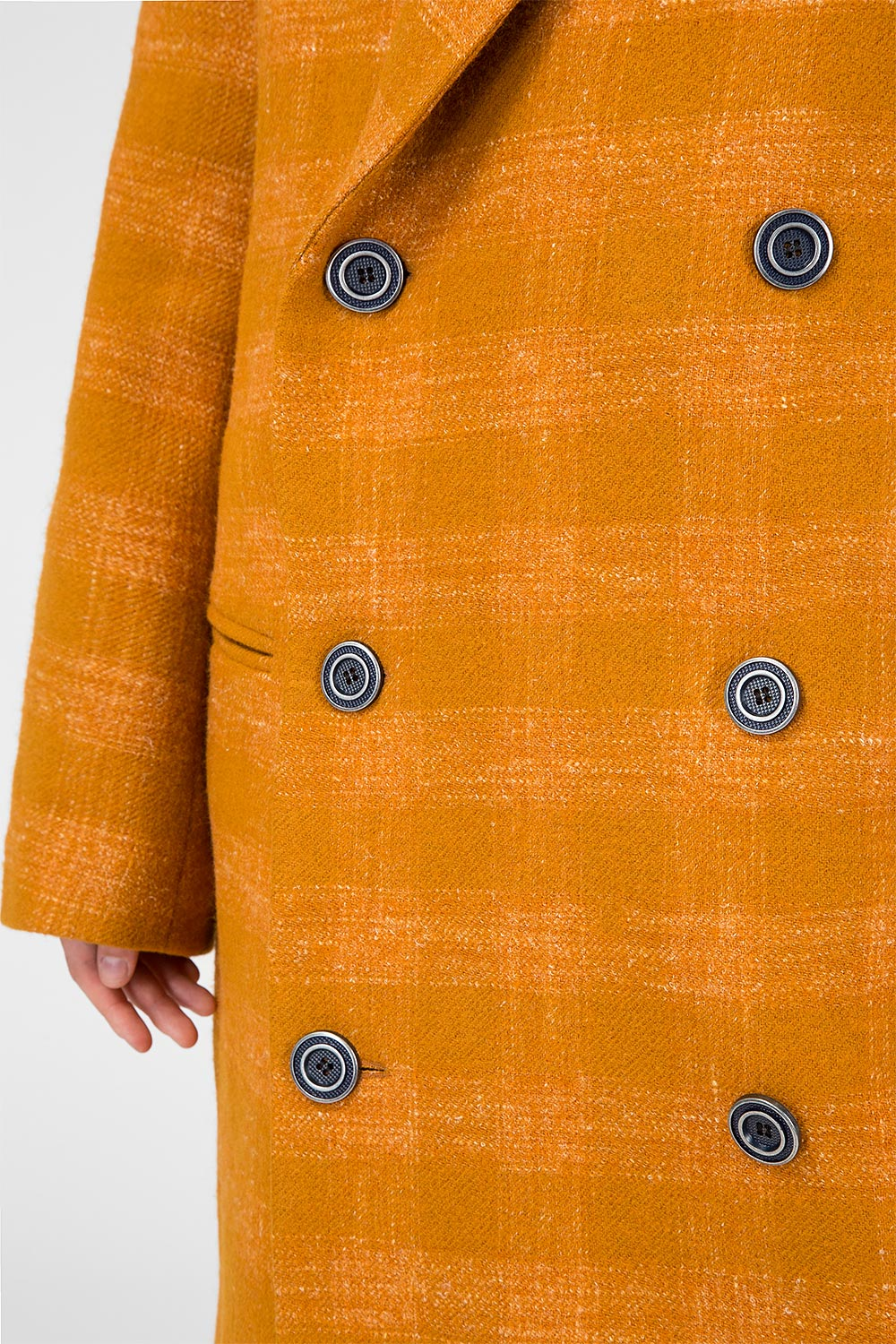 Ginger checkered wool coat