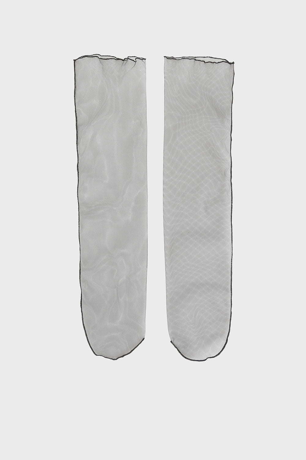 Black transparent socks