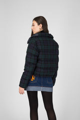 Wool Check Down Jacket