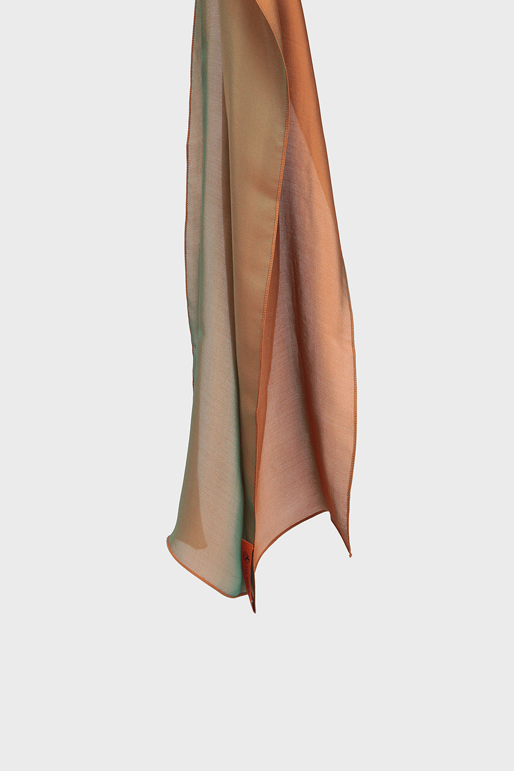 Orange silky scarf