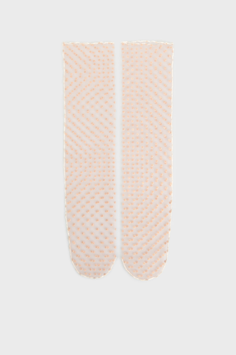Pink transparent socks
