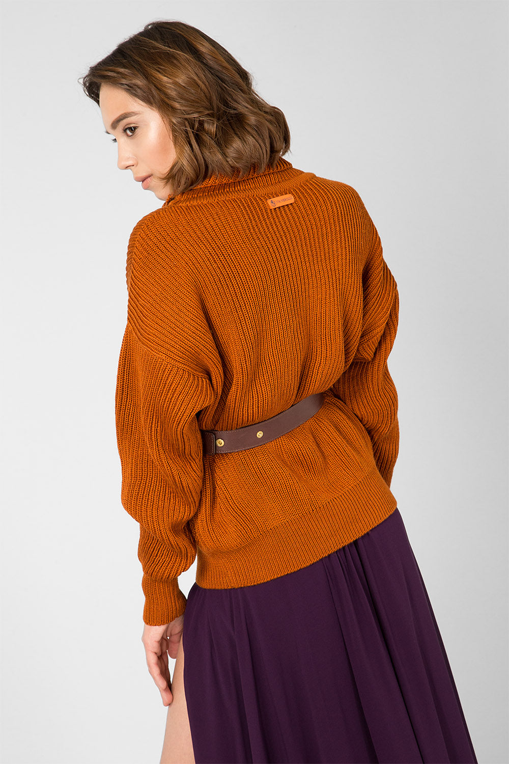Copper knitted sweater